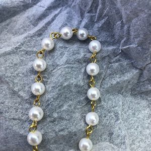 20 ft of vintage chain and pearl look make necklac